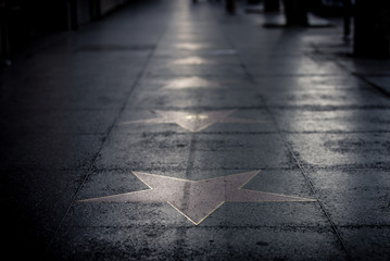 Stars on the street in Hollywood