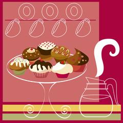 dessert background.