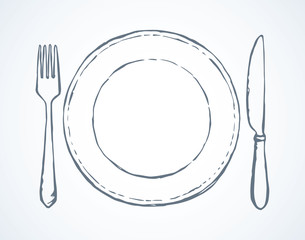 Cutlery. Vector drawing