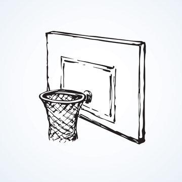 Basketball basket . Vector drawing