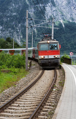 Austrian Train in Mountains