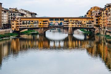 Historical bridge in Florence, Tuscany, Italy