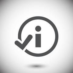 info icon stock vector illustration flat design