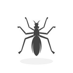 Ant Icon. Vector logo on white background