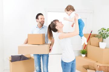 The family moves to a new apartment.