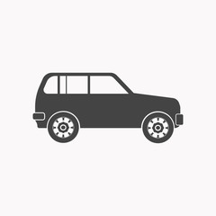 Jeep car icon illustration isolated vector sign symbol