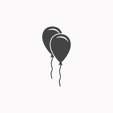 Ballon icon illustration isolated vector sign symbol