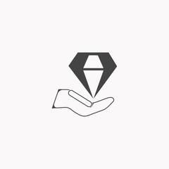 Diamond icon illustration isolated vector sign symbol