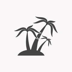 Palm icon illustration isolated vector sign symbol