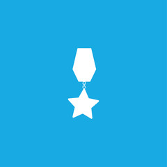 Medal of star icon illustration isolated vector sign symbol