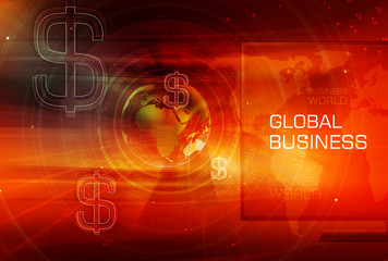 Graphical Finance and Global Business Background
