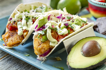 Making of Fresh Fish Tacos