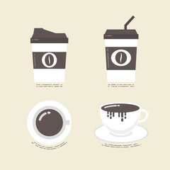 flat coffee icon