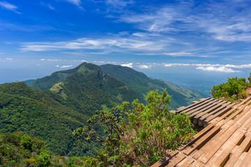 Wonderful and Beautiful landscape of World's End within the Horton Plains National Park in Sri Lanka
