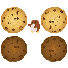 チョコチップクッキーとペンギン