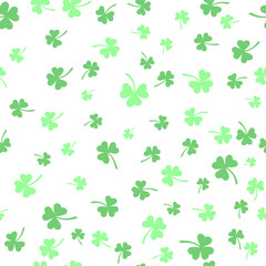 shamrock seamless pattern. patrick backgorund. St. Patrick's Day. Vector illustration