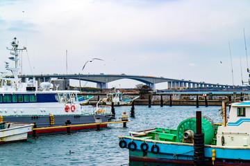 浜名湖と船