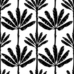Banana Tree Seamless Pattern