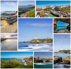 Biarritz rectangular travel photo collage
