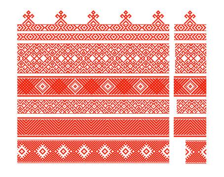 Set of belarusian patterns