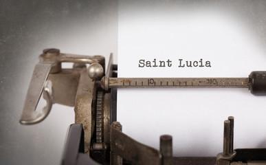 Old typewriter - Saint Lucia