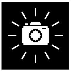 Pixel camera illustration