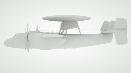 The military airplane, 3 d render