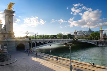 View on pont Alexadre III Fototapete