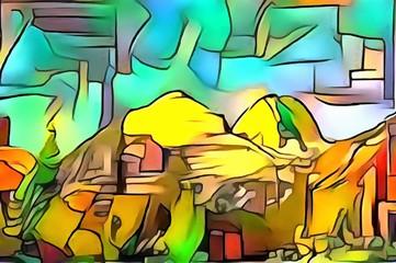 The urban landscape in avant garde style