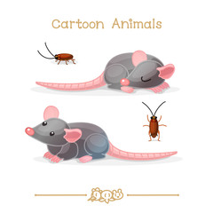 Toons series cartoon animals: rats & cockroaches