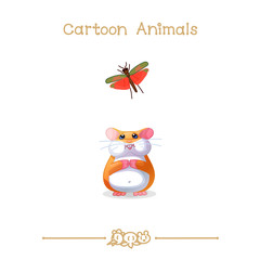 Toons series cartoon animals: hamster & grasshopper