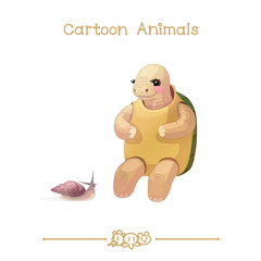 Toons series cartoon animals: turtle & snail