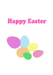 Easter eggs with ornament greeting card holiday vector illustration