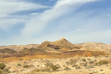 Arid desert in Israel.