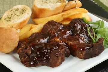 boneless beef rib in barbecue sauce