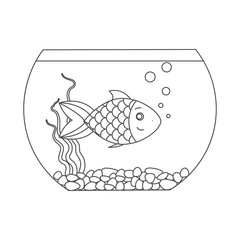 Fish for coloring book