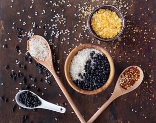 Rice, beans and salt