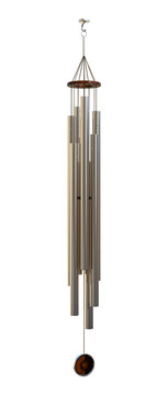 3D Rendering Wind Chime on White