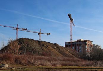 construction crane outdoor place landmark