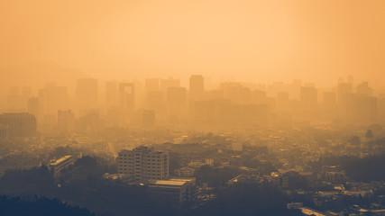 Fototapeta City fine dust