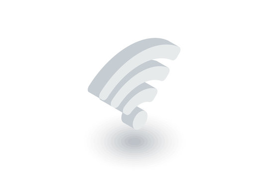 Wi-fi signal isometric flat icon. 3d vector colorful illustration. Pictogram isolated on white background