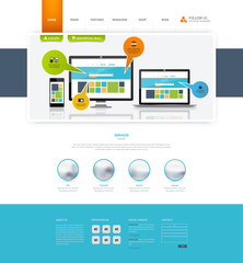 Corporate Website Template In Vector Format.