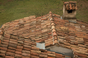Mediterranean roof with chimney