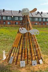 Новосибирск, Россия, инсталляция шалаша, творческий фестиваль