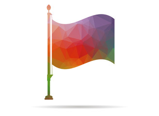 low poly flag