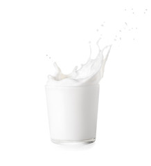 glass of milk with splash