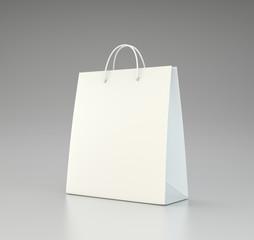 Paper bag. Model for applying branding. 3d rendering