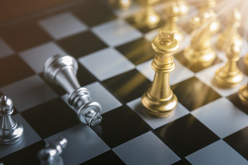 chess board game concept of business ideas and competition and stratagy plan success meaning