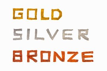 gold silver bronze