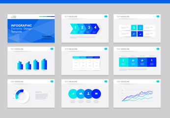 flat vector  set infographics element design template. for business  presentation template , brochure, and web design